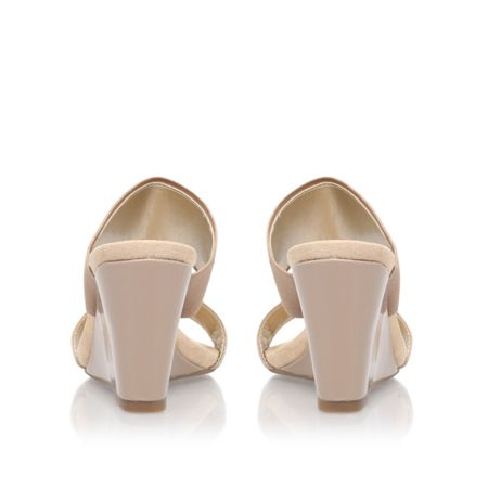 Anne Klein Lailah2 low heel wedge sandals