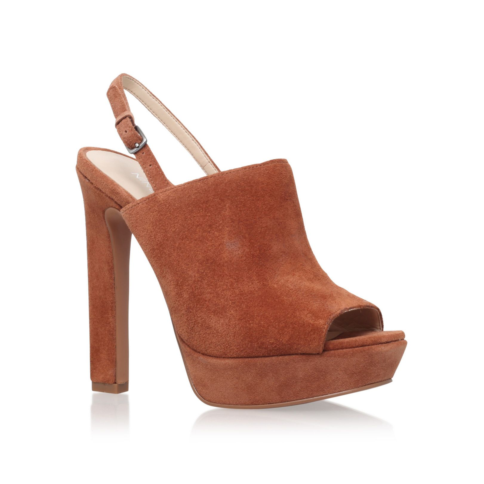 Nine West Nine West Lailah high heel slingback shoes, Tan