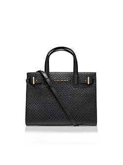 Woven london tote bag