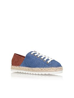 Nonchalant7 flat lace up espadrille sneakers