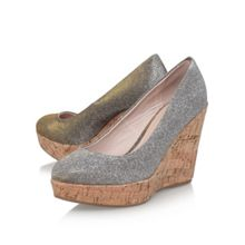 Carvela Attend high wedge heel court shoes