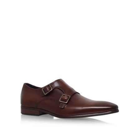 KG Root Pointed Leather Monk Shoes