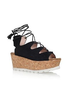 Kooper high wedge heel sandals