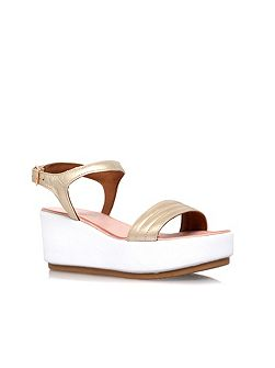Kylie high wedge heel sandals