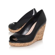 Carvela Stellar wedge heel peep toe court shoes