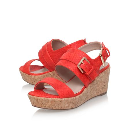 Carvela Samson mid heel wedge sandals