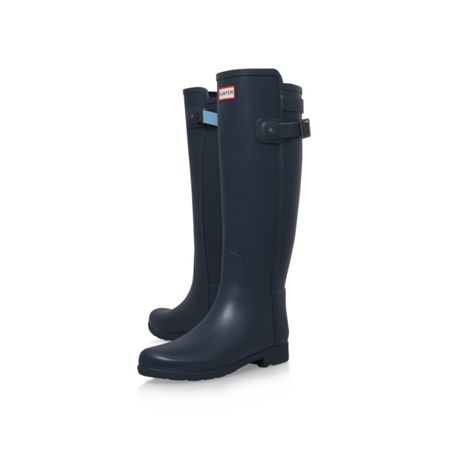 Hunter Orig ref back strap wellington boots
