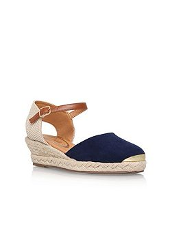 Lea mid wedge heel sandals