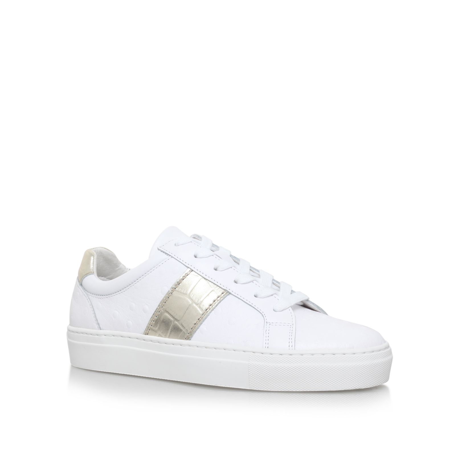 Kurt Geiger Lambeth flat lace up sneakers, White