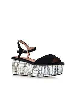 Mambo high wedge heel sandals