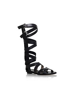 Darby gladiator flat knee high sandals