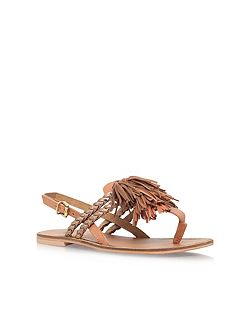 Brass low heel sandals