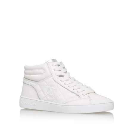 Michael Kors Paige quilted high top lace up sneakers