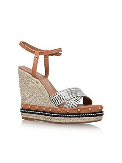 Aria high wedge heel sandals