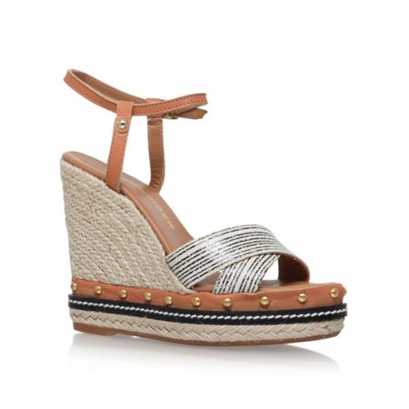 Kurt Geiger Aria high wedge heel sandals