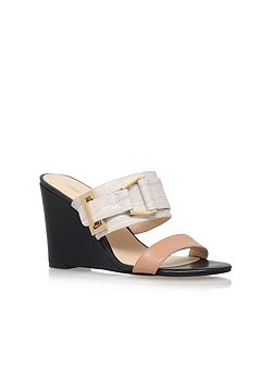 Funtimes high wedge heel sandals
