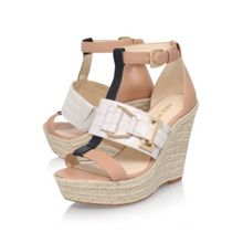 Nine West Jellia high wedge heel sandals