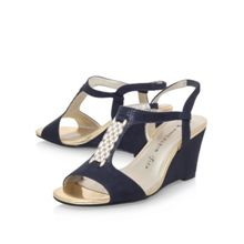 Anne Klein Emanie2 high wedge heel sandals