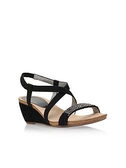 Jasia2 mid wedge heel sandals