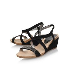 Anne Klein Jasia2 mid wedge heel sandals