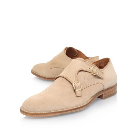 Kurt Geiger Stanley suede double buckle monk shoes