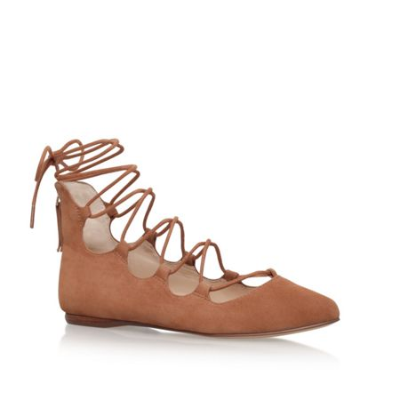 Nine West Signmeup9 lace up ballerina pumps