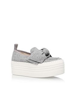 Lucky platform slip on wedges