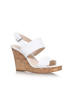 Lucini high heel wedge sandals