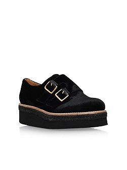Loaded mid heel slip on loafers