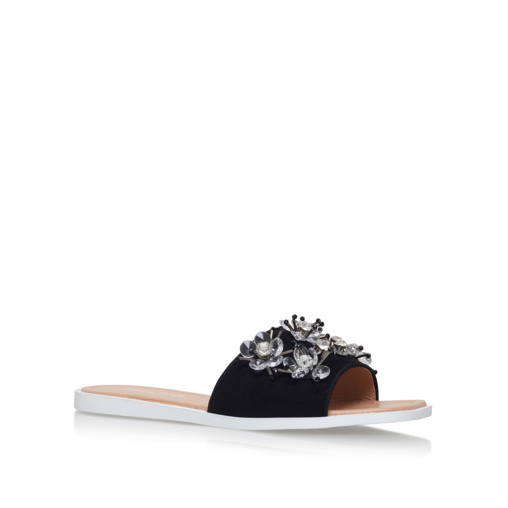 Miss KG Dandelion flat slip on sandals, Black