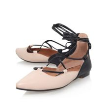 KG Larissa flat lace up ballerina pumps