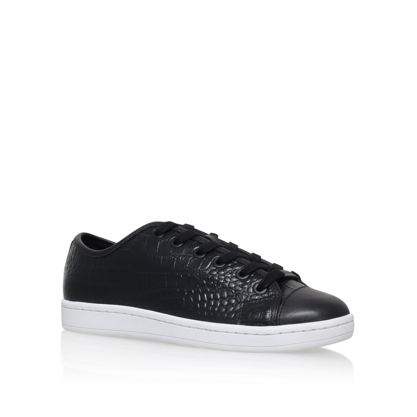 DKNY Baylee flat lace up sneakers, Black