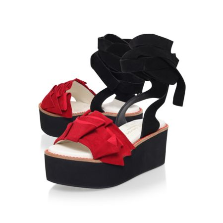 Kurt Geiger Bonita high wedge heel sandals