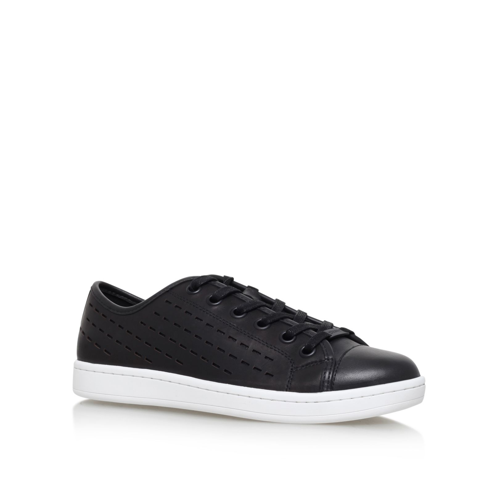DKNY Baylee flat lace up sneakers Black Leather