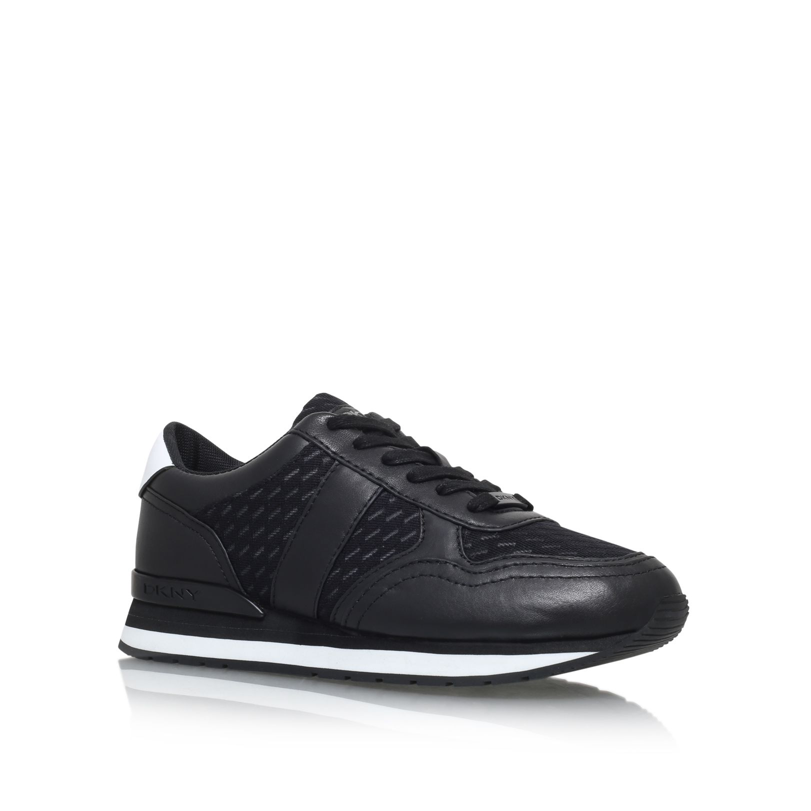 DKNY Jamie sport flat lace up sneakers Black