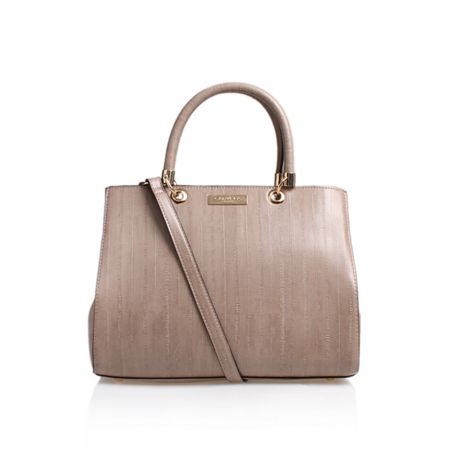 Carvela Darla snake embossed tote bag