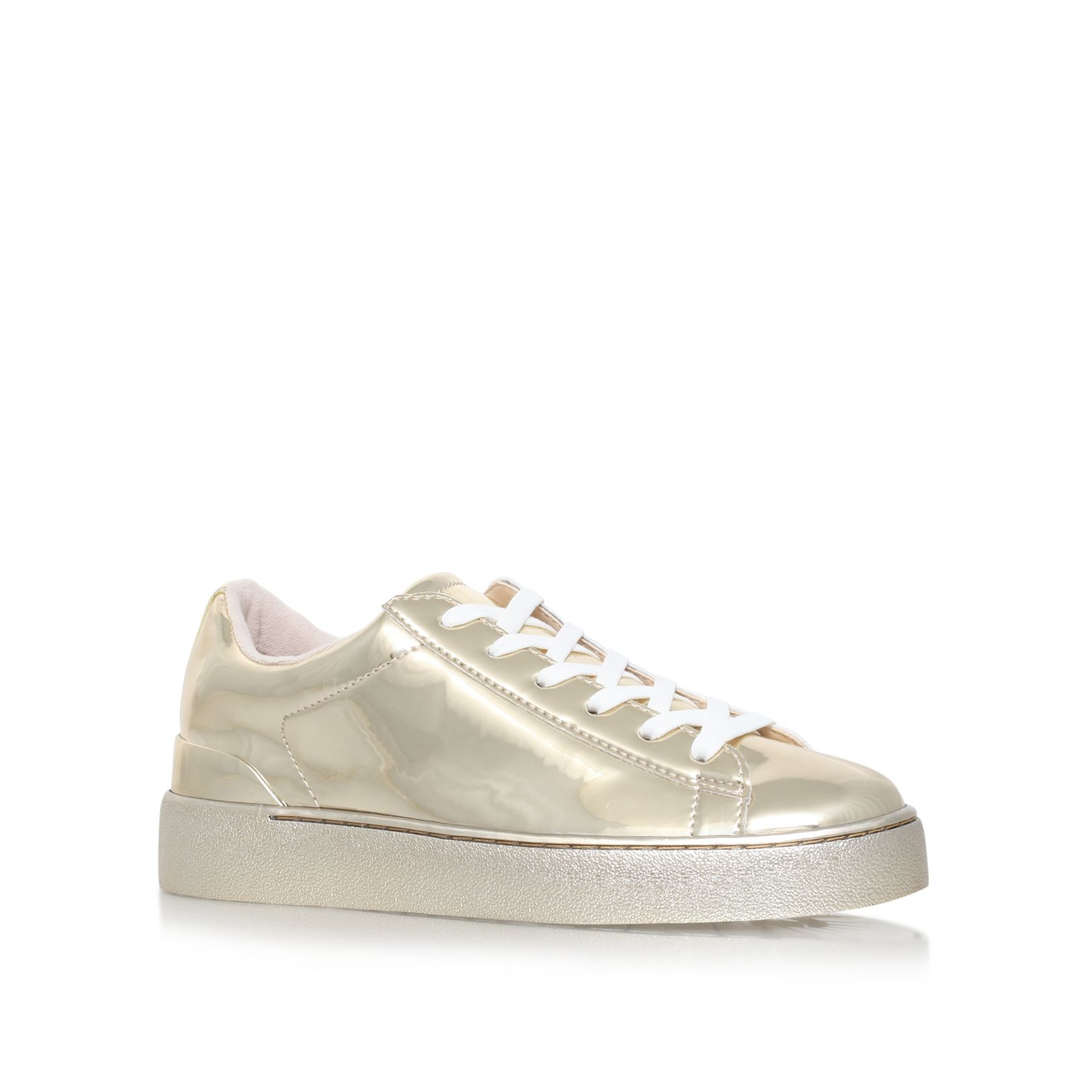 Nine West Nine West Palyla3 flat lace up sneakers, Gold