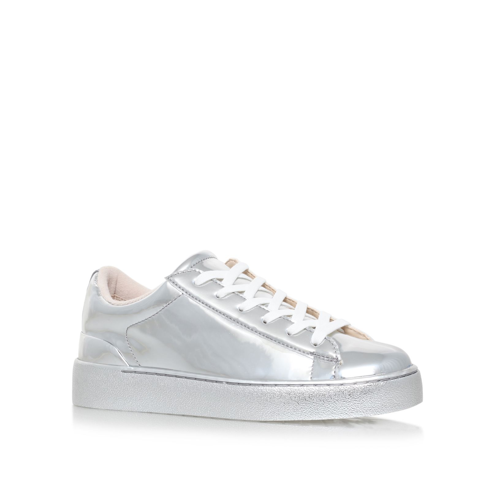 Nine West Nine West Palyla3 flat lace up sneakers, Silver