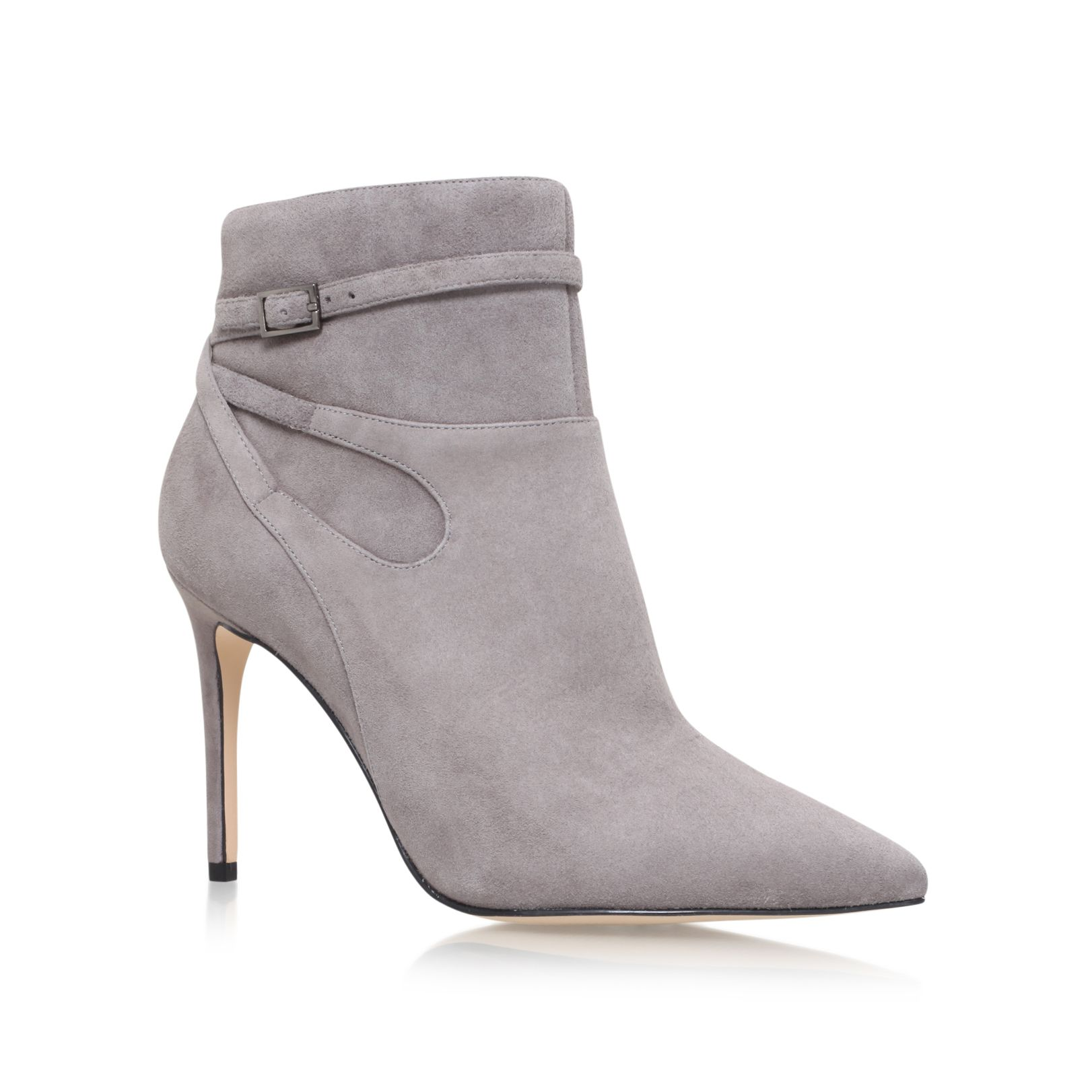 Nine West Nine West Tanesha high heel ankle boots, Light Grey