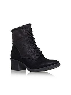 Taite mid heel lace up boots