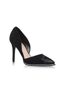 Charm high heel court shoes