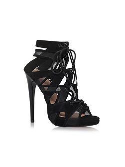 Hoxton high heel lace up sandals