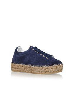 Lovebug mid heel lace up sneakers