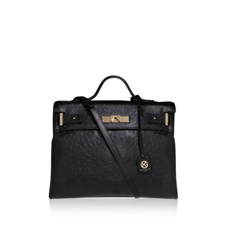 Kurt Geiger London Ostrich britt tote bag