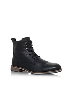 Winston flat lace up boots