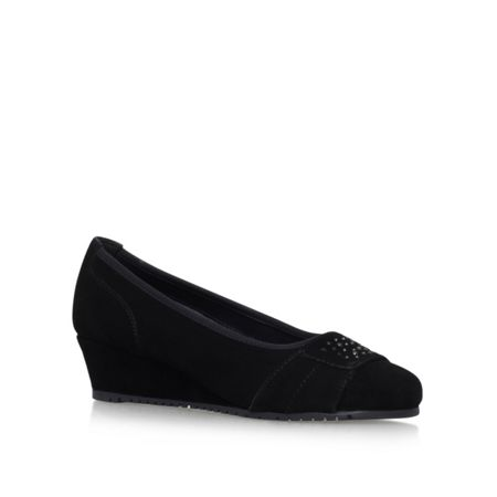 Carvela Comfort Allie mid wedge heel court shoes