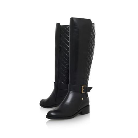 Carvela Polished flat knee boots