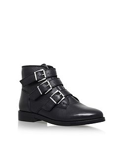 Total flat ankle boots