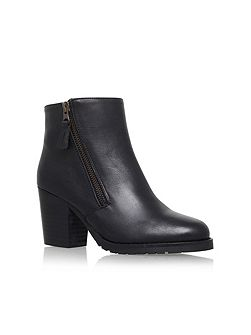 Sweep high heel ankle boots