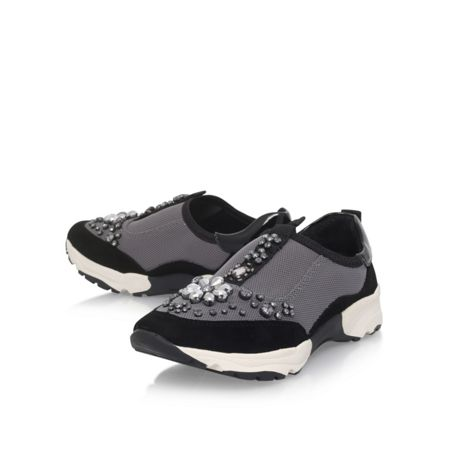 Carvela Lamb flat lace up sneakers